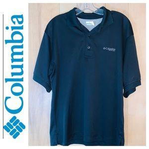 Columbia Omni Shade Black Collared Shirt. Size S